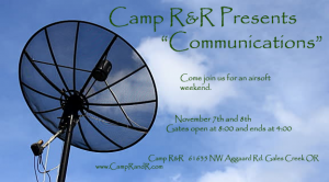 "Camp R and R Presents ""Communications"""